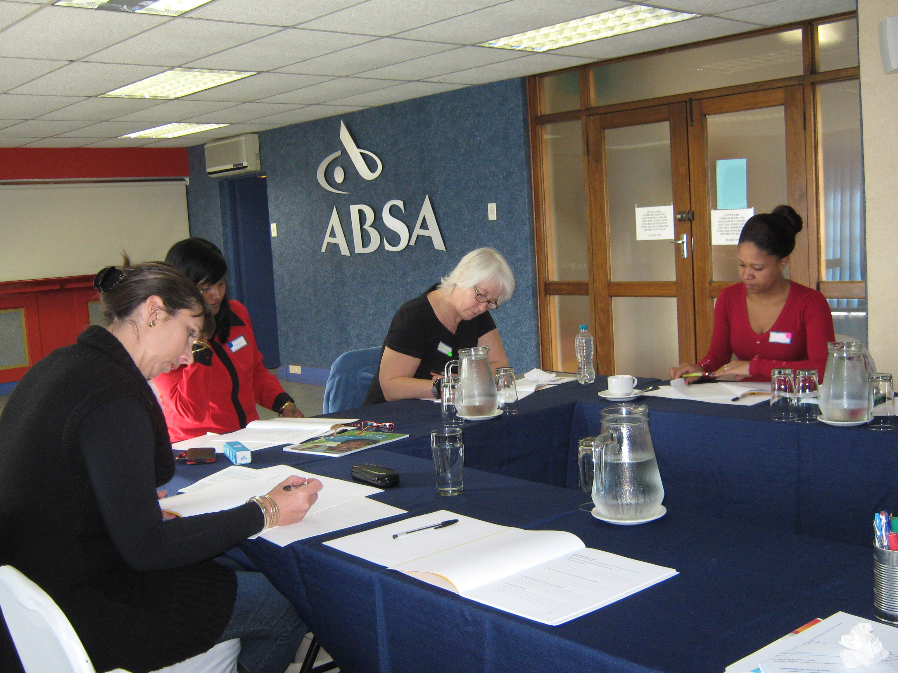 Maralyn, Angie, Shan and Thobile hard at work